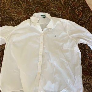 White cotton button down Ralph Lauren shirt sz 2X